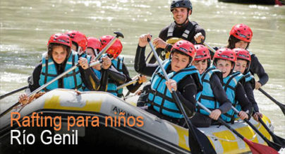 Rafting para niños en Río Genil