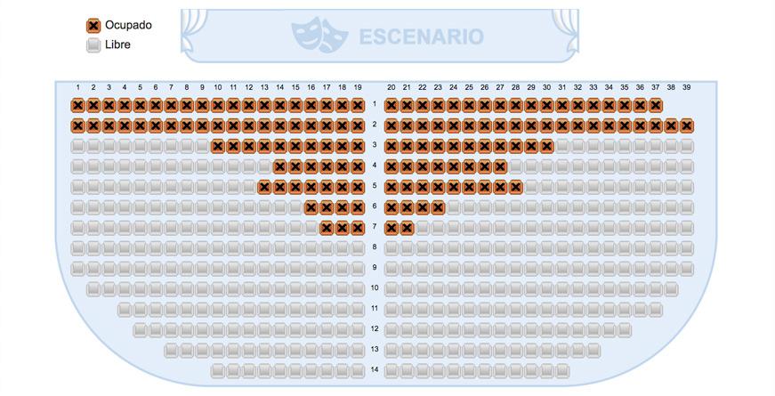 Reservas con asientos numerados