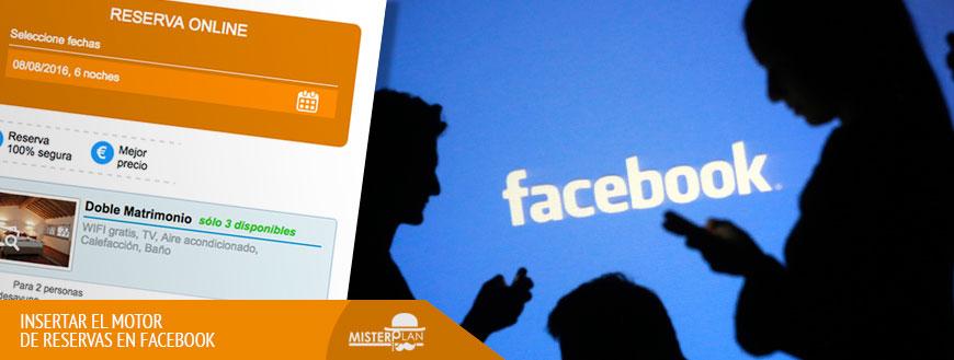 Motor de reservas Ruralgest para Facebook
